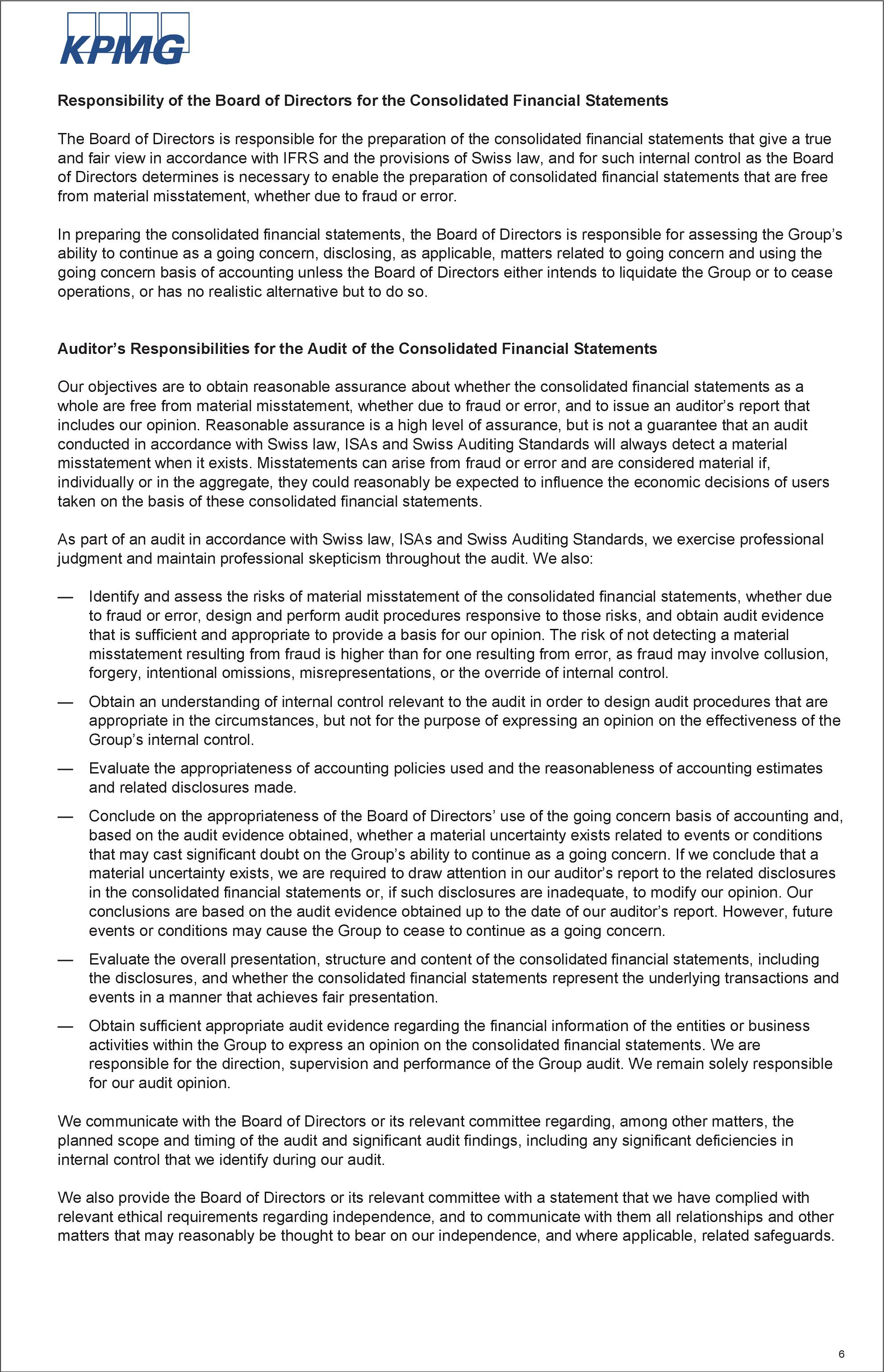 statutory auditor u2019s report